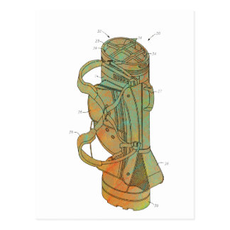 Patent Image of Golf Bag Postcard