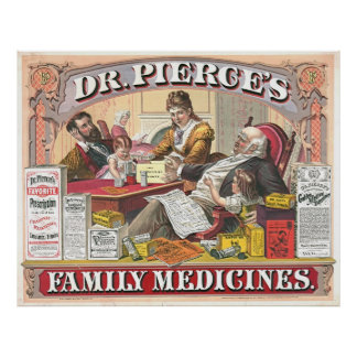 Patent Medicine Ad 1874 Poster