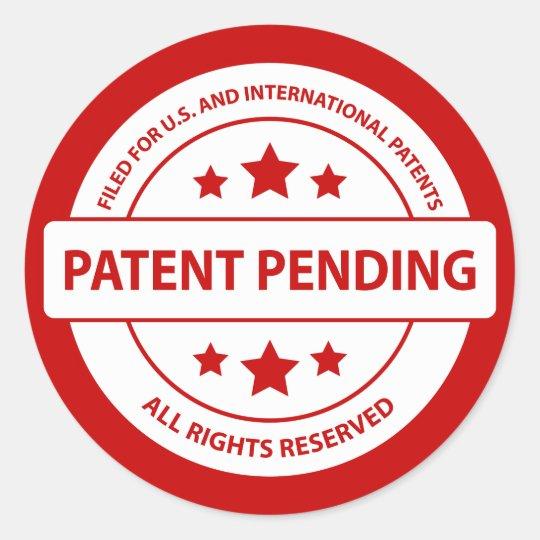 Patent Pending Sticker Zazzle
