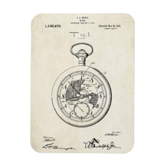 Patent Print Meroz Watch Photo Magnet
