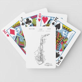 Patent saxophone design deck of cards
