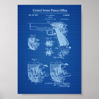 Patente 1911 - modelo del arma de fuego del potro póster