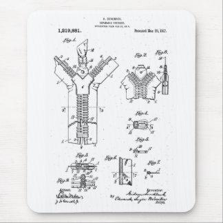 """Patente 1917 de la cremallera de la """"sujeción alfombrilla de raton"""