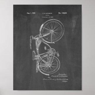 Patente de la bicicleta de Schwinn - pizarra Póster