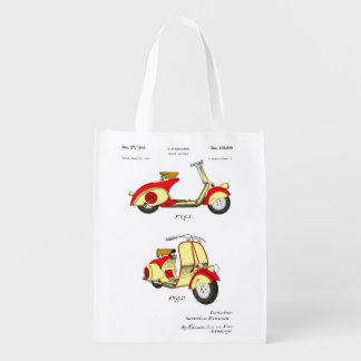 Patente de la bicicleta del motor circa 1949 - bolsas reutilizables