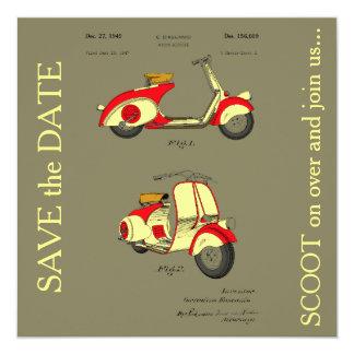"""Patente de la bicicleta del motor circa 1949 - invitación 5.25"""" x 5.25"""""""