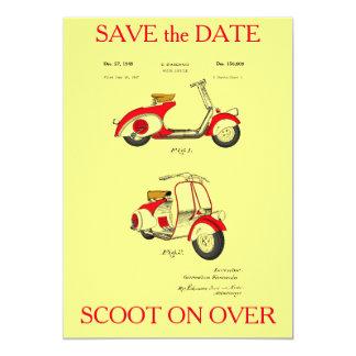 """Patente de la bicicleta del motor circa 1949 - invitación 5"""" x 7"""""""