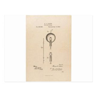 Patente de la bombilla de Edson Postales