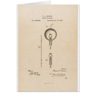 Patente de la bombilla de Edson Tarjeta De Felicitación