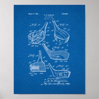 Patente de la cabeza de club de golf - modelo póster