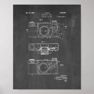 Patente de la cámara fotográfica - pizarra póster