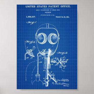 Patente de la careta antigás - modelo póster
