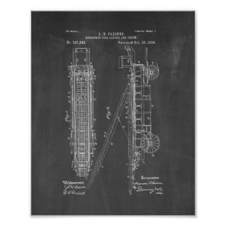 Patente de la Fuego-escalera y del camión de la Póster