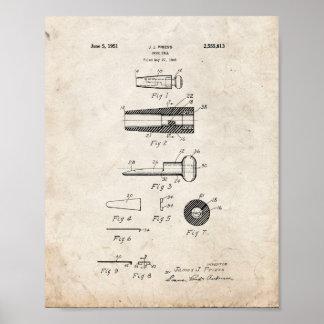 Patente de la llamada del pato - vieja mirada póster