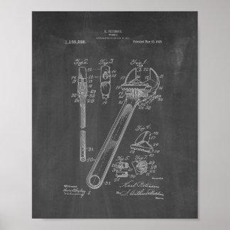 Patente de la llave - pizarra póster