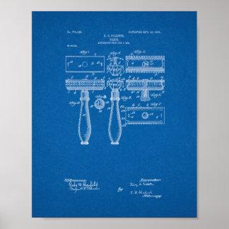 Patente de la maquinilla de afeitar de Gillette - Póster
