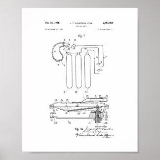 Patente de la unidad del salto de Jacques Cousteau Posters