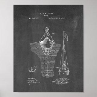 Patente de las boyas - pizarra posters