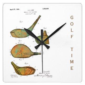 PATENTE de las CABEZAS de CLUB DE GOLF 1925 - Reloj Cuadrado