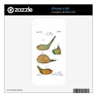 PATENTE de las CABEZAS de CLUB DE GOLF - piel del iPhone 4 Skins