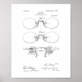 Patente de las lentes poster