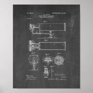 patente del aparato de la Vision-prueba - pizarra Posters
