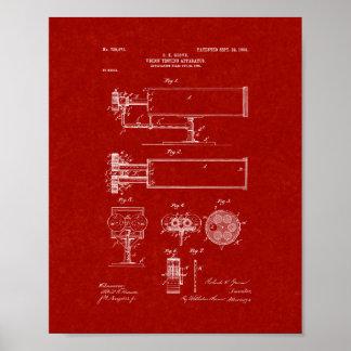 patente del aparato de la Vision-prueba - rojo de Poster
