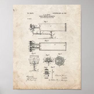 patente del aparato de la Vision-prueba - vieja Impresiones