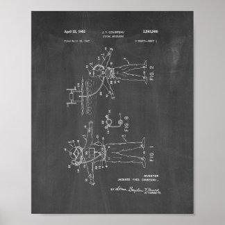 Patente del aparato de salto de Jacques Cousteau - Poster