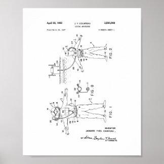 Patente del aparato de salto de Jacques Cousteau Poster