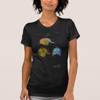 PATENTE del CASCO del BÉISBOL - camiseta de la Poleras