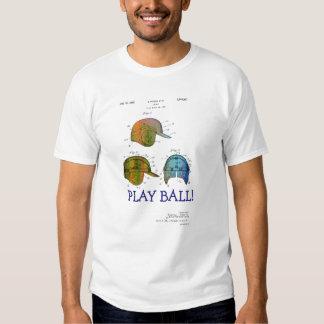 PATENTE del CASCO del BÉISBOL - la camiseta de los Playera