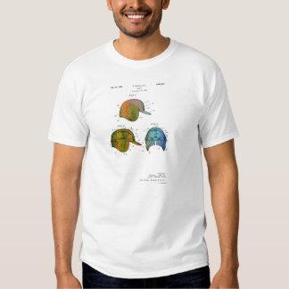 PATENTE del CASCO del BÉISBOL - la camiseta de los Poleras