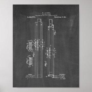 patente del corredor de la Diapositiva-regla - Póster