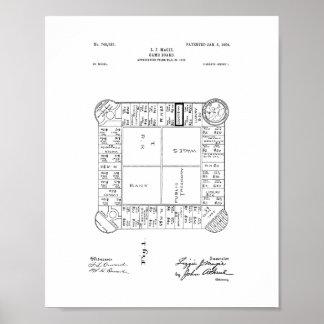 Patente del juego del propietario póster
