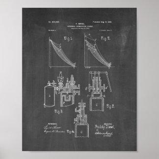 Patente del motor de combustión interna - pizarra póster
