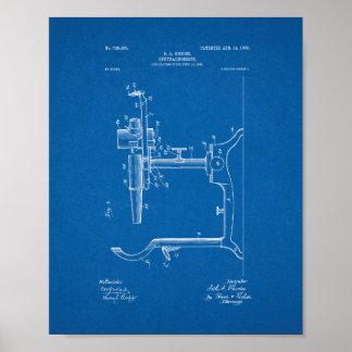 Patente del oftalmoscopio del oculista - modelo póster