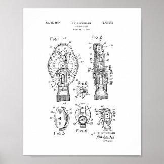 Patente del oftalmoscopio del oculista posters