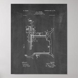 Patente del oftalmoscopio del oculista - pizarra poster