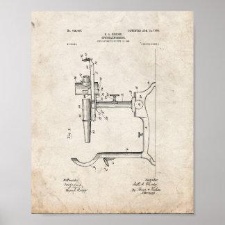 Patente del oftalmoscopio del oculista - vieja poster