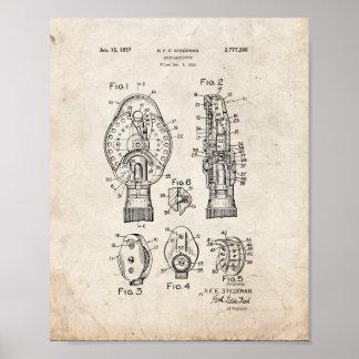 Patente del oftalmoscopio del oculista - vieja póster