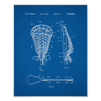 Patente del palillo de LaCrosse - modelo Póster