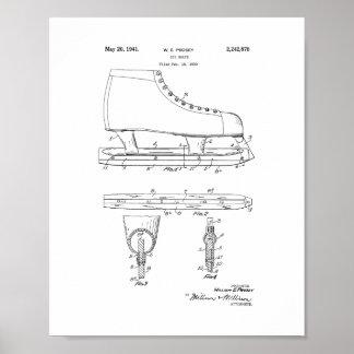 Patente del patín de hielo póster