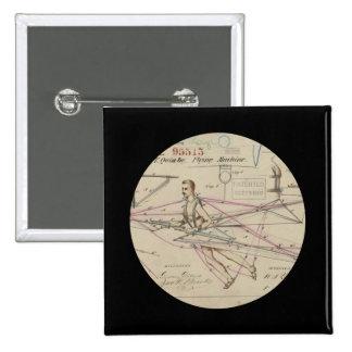 Patente del planeador del hombre de vuelo pin cuadrada 5 cm