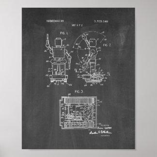 Patente del robot del juguete - pizarra póster
