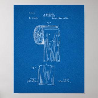 Patente del rollo del papel higiénico - modelo póster