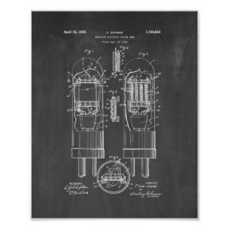 patente del tubo de vacío del Múltiple-electrodo - Póster