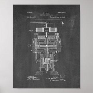Patente eléctrica del generador de Tesla - pizarra Impresiones