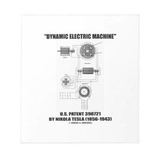 Patente eléctrica dinámica Nikola Tesla de los E.E Bloc
