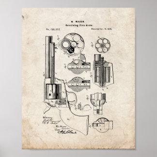 Patente rotatoria del arma de fuego del albañil - impresiones